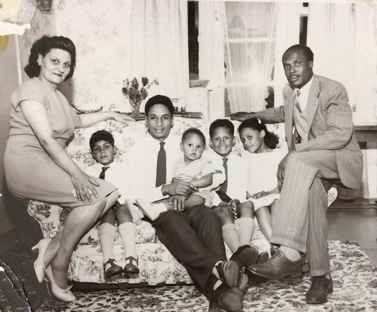 Family portrait of the Irons family, a prominent Magistrate in Clifton, 1950s